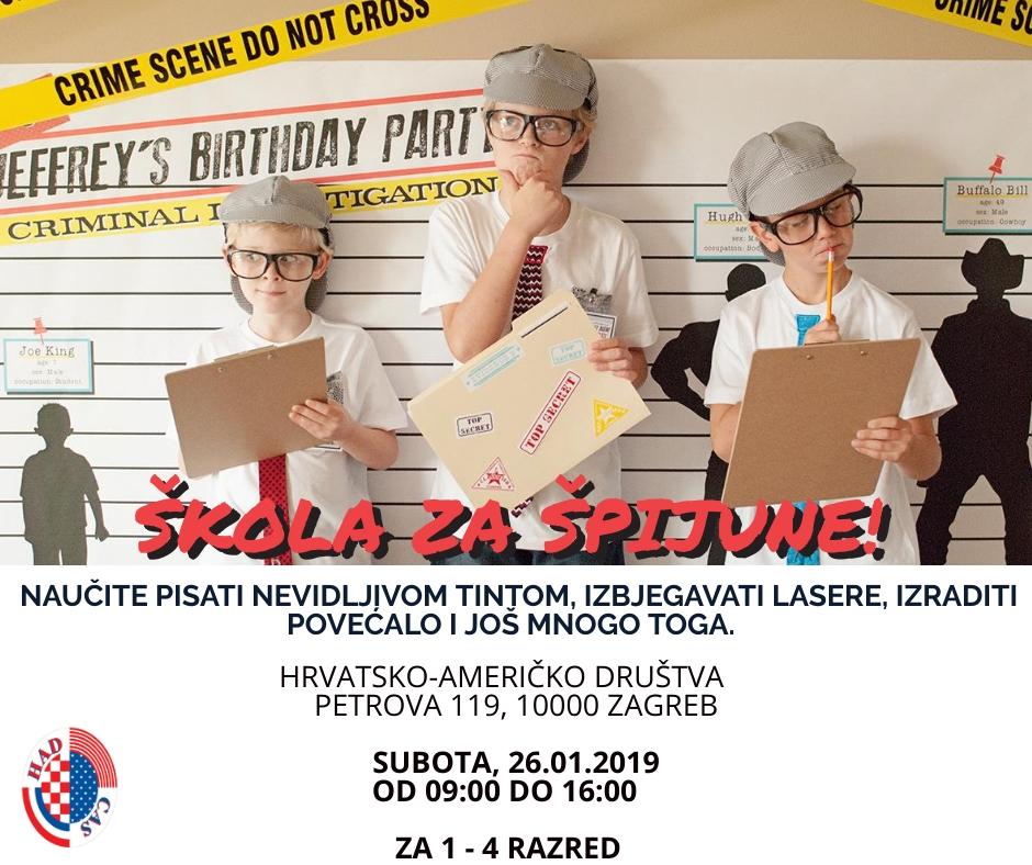 SPY SCHOOL FOR KIDS – ENGLISH WINTER CAMP FOR CHILDREN IN ZAGREB