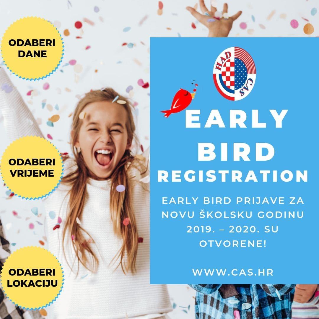 Early Bird Prijave – Ljetni Upisi