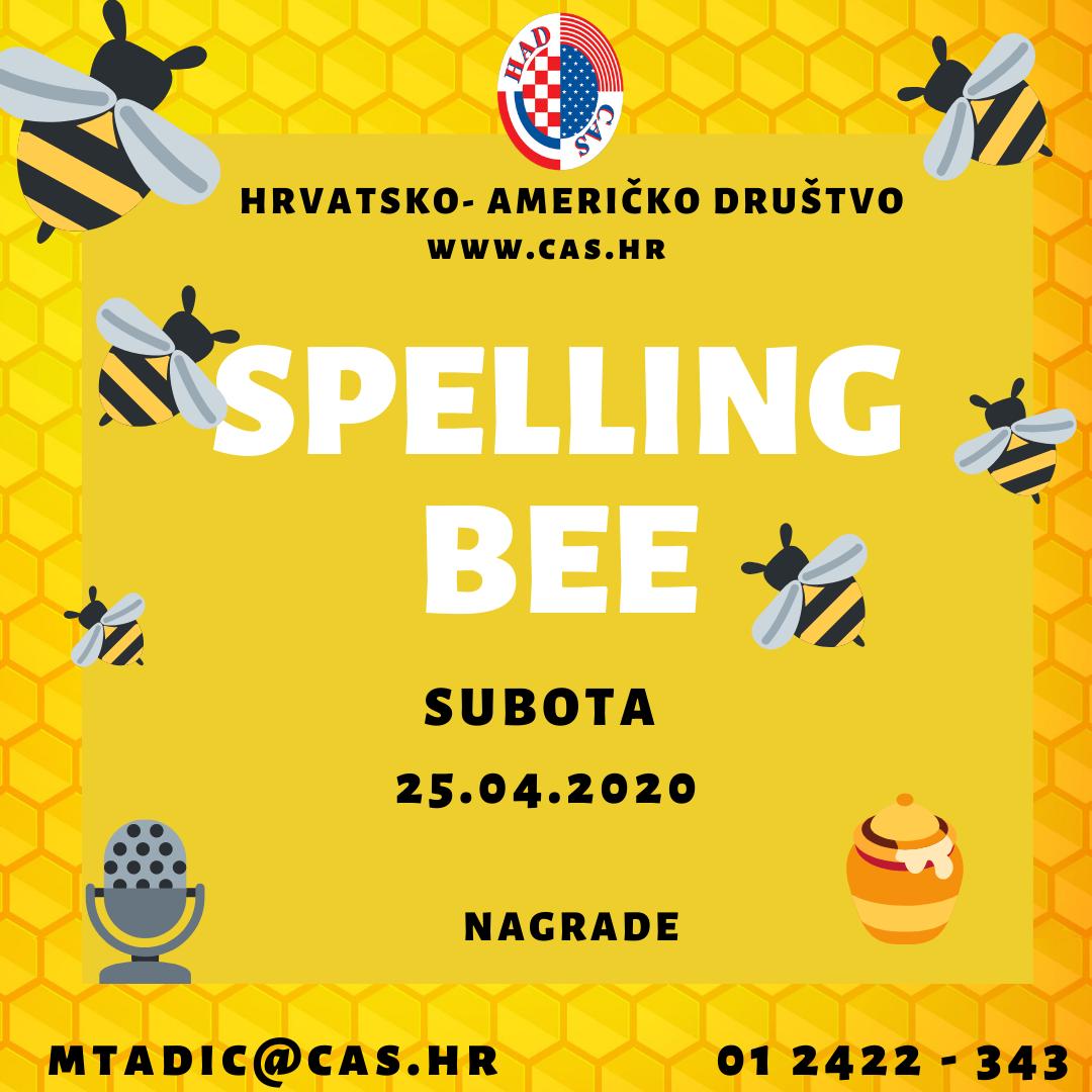 Besplatno natjecanje iz slovkanja na engleskom jeziku (spelling bee)
