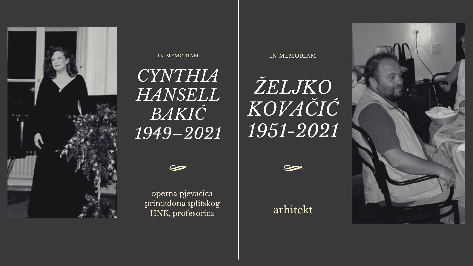 In Memoriam – Željko Kovačić i Cynthia Hansell Bakić